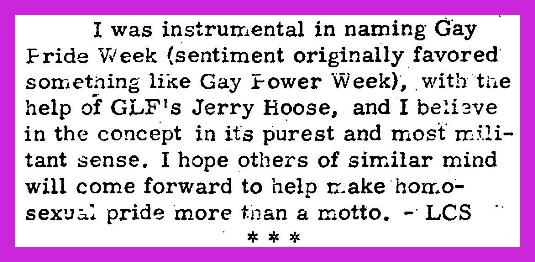 "[""Gay Pride"" origin proof: original paragraph of 1971 claim]"